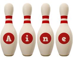 Aine bowling-pin logo