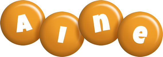 Aine candy-orange logo