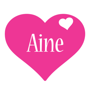 Aine love-heart logo