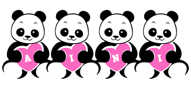 Aini love-panda logo