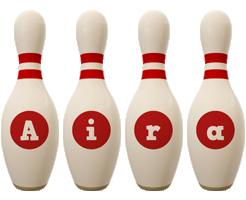Aira bowling-pin logo