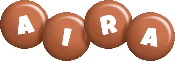 Aira candy-brown logo