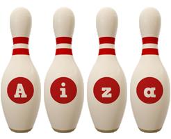 Aiza bowling-pin logo