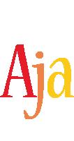 Aja birthday logo