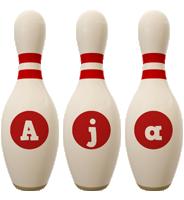 Aja bowling-pin logo