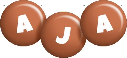 Aja candy-brown logo
