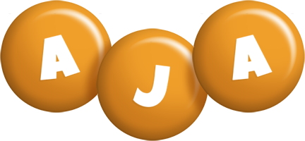 Aja candy-orange logo