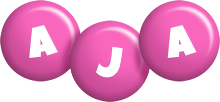 Aja candy-pink logo