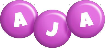 Aja candy-purple logo
