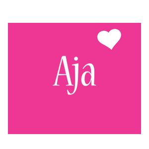 Aja love-heart logo