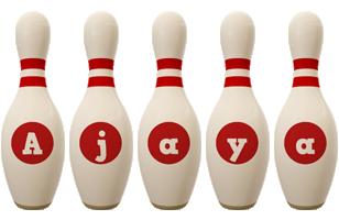 Ajaya bowling-pin logo
