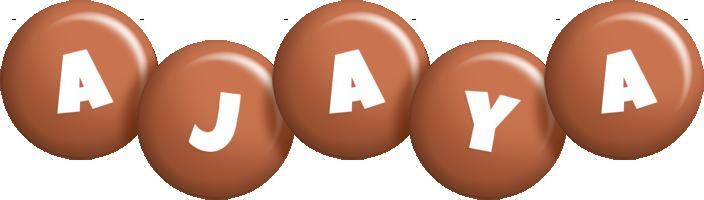 Ajaya candy-brown logo