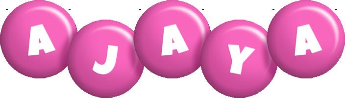 Ajaya candy-pink logo