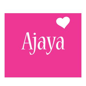 Ajaya love-heart logo