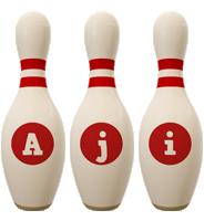 Aji bowling-pin logo