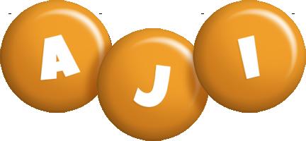 Aji candy-orange logo