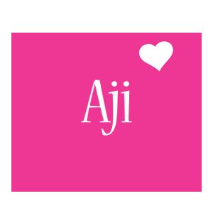 Aji love-heart logo
