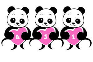 Aji love-panda logo