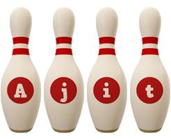 Ajit bowling-pin logo