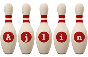 Ajlin bowling-pin logo