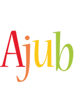 Ajub birthday logo