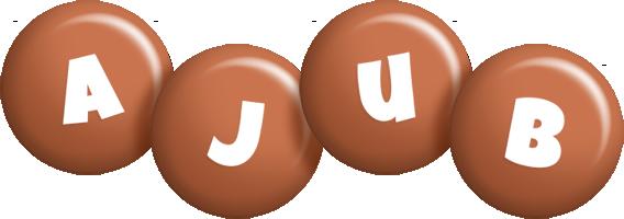 Ajub candy-brown logo
