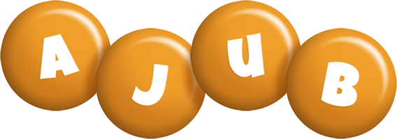 Ajub candy-orange logo