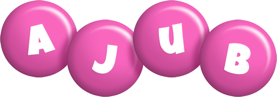 Ajub candy-pink logo