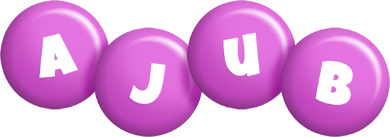 Ajub candy-purple logo