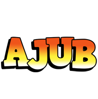 Ajub sunset logo