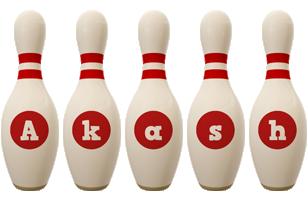 Akash bowling-pin logo