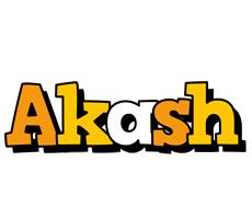 Akash cartoon logo