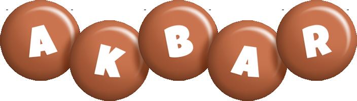 Akbar candy-brown logo