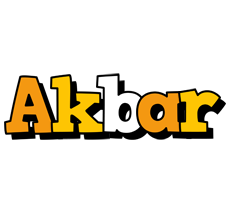 Akbar cartoon logo