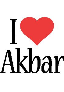 Akbar i-love logo