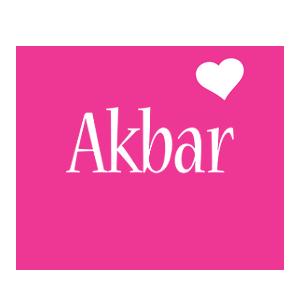 Akbar love-heart logo