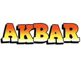 Akbar sunset logo