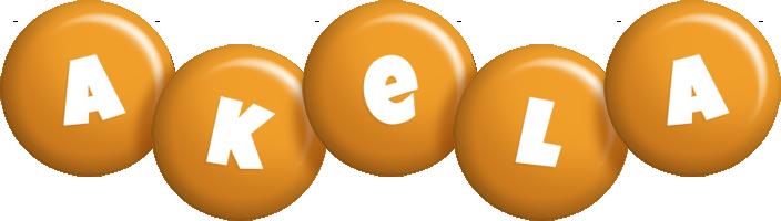 Akela candy-orange logo