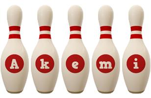 Akemi bowling-pin logo