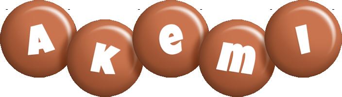 Akemi candy-brown logo