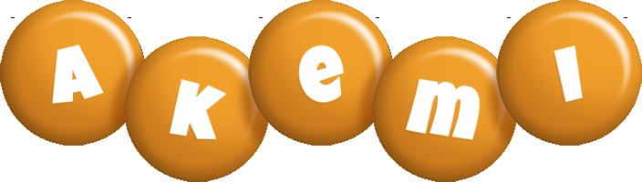 Akemi candy-orange logo