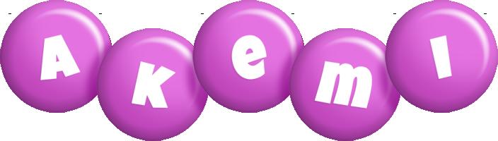 Akemi candy-purple logo