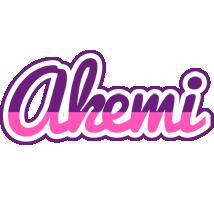 Akemi cheerful logo