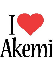 Akemi i-love logo