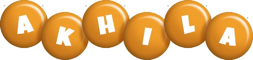 Akhila candy-orange logo