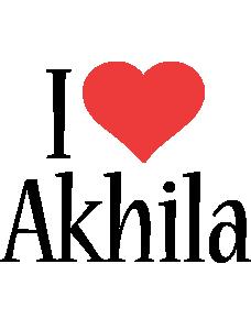Akhila i-love logo