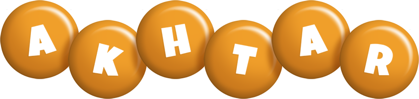 Akhtar candy-orange logo