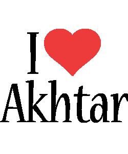 Akhtar i-love logo