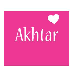 Akhtar love-heart logo