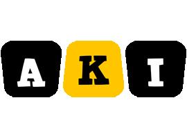 Aki boots logo